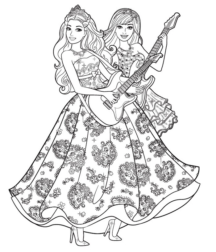 Coloring pages of princesses to print